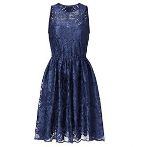 Navy Lace Cocktail Dress by Erin Fetherston